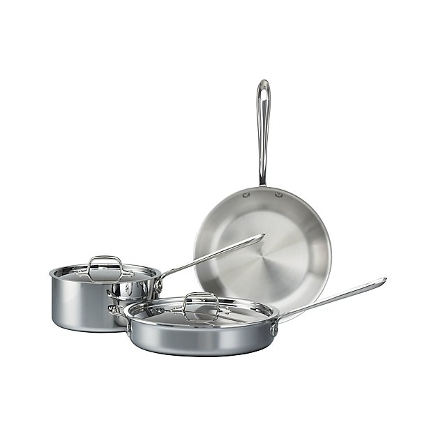 All Clad 174 Stainless 5 Piece Starter Cookware Set Crate