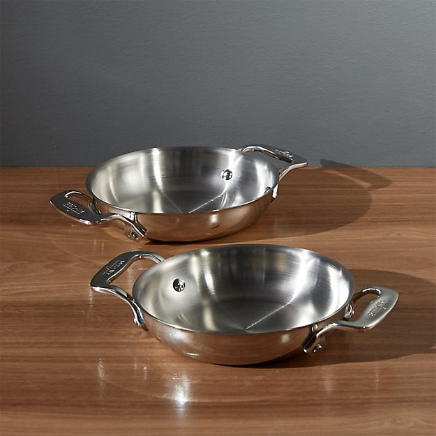 Set Of 2 All Clad 174 Stainless Steel 6 Quot Mini Gratins