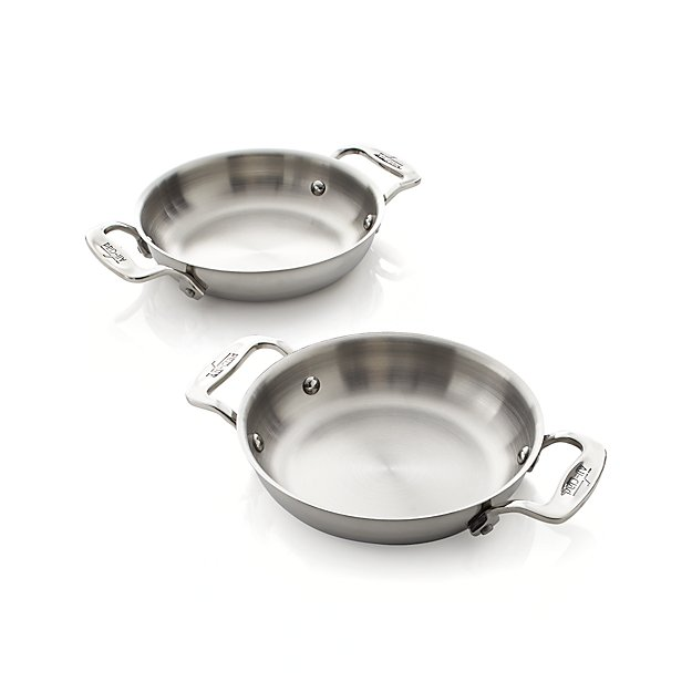 "Set of 2 All-Clad ® Stainless Steel 6"" Mini Gratins"