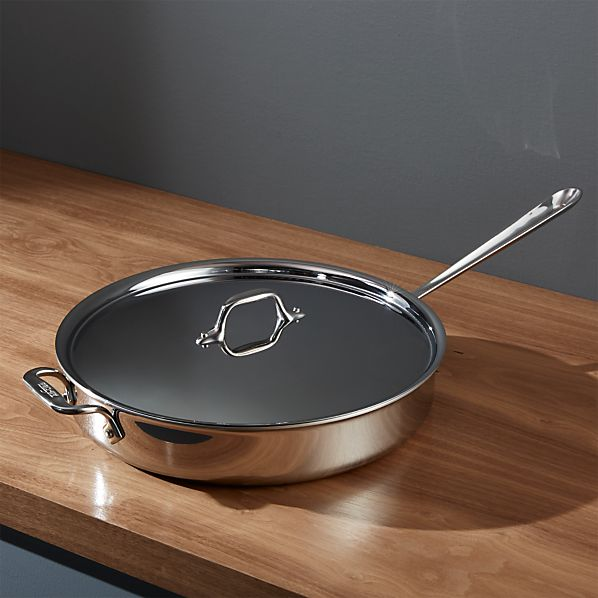 All-Clad ® Stainless 6 qt. Sauté Pan with Lid