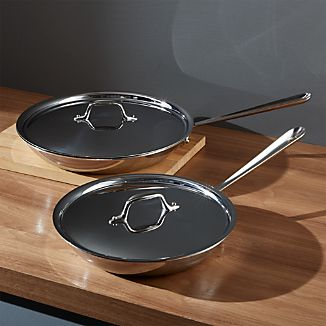 All-Clad ® Stainless Fry Pans with Lid
