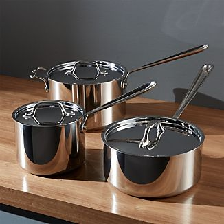 All-Clad ® Stainless Saucepans with Lid