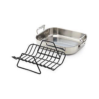 All-Clad ® Small Nonstick Roasting Pan with Rack