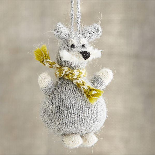 Alpaca Chubby Schnauzer Dog Ornament