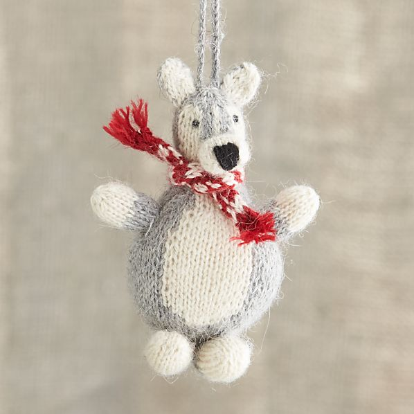 Alpaca Chubby Husky Dog Ornament