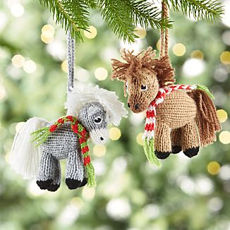 Alpaca Horse with Scarf Ornaments