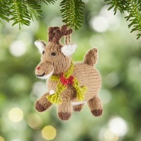 Alpaca Reindeer Christmas Ornament