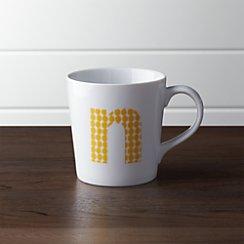 Alphabet N Mug