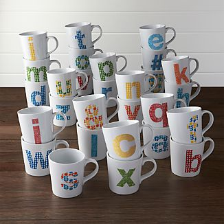 Alphabet Mugs