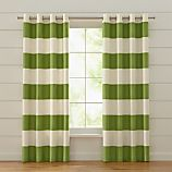 Alston Ivory/Green Curtains