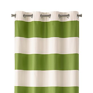 "Alston 50""x96"" Ivory/Green Striped Curtain Panel"
