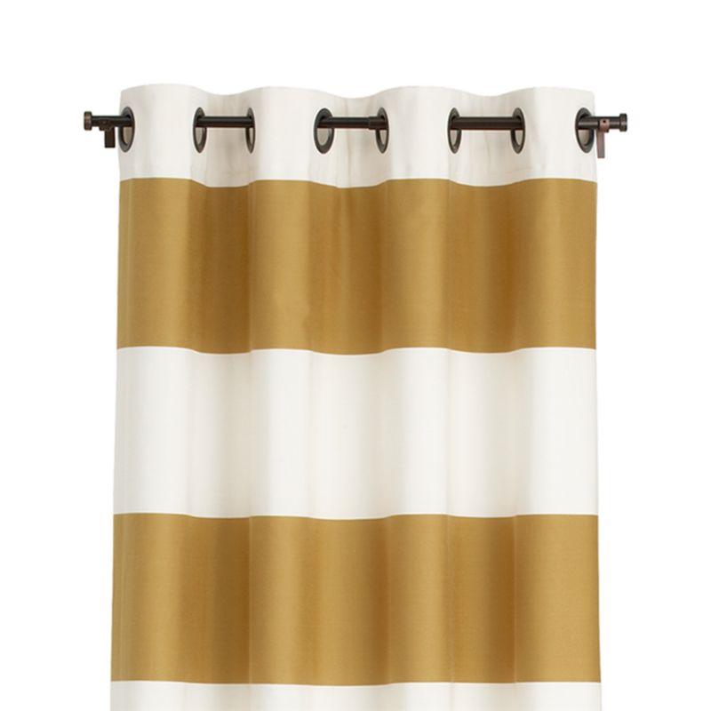 "Alston Ivory/Gold 50""x84"" Curtain Panel"