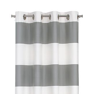 "Alston Ivory/Grey 50""x96"" Curtain Panel"
