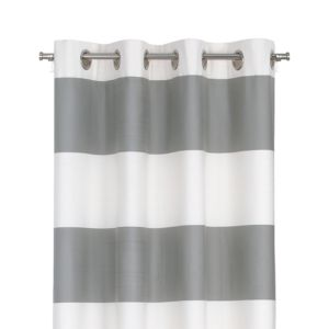 Alston Ivory/Grey 50x96 Curtain Panel