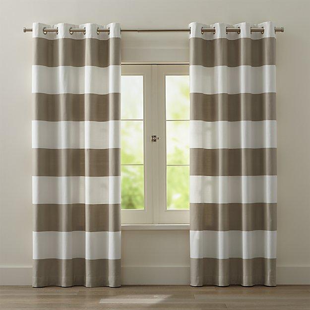 Curtains Ideas black and khaki curtains : Curtains Ideas : black and ivory striped curtains Black And as ...