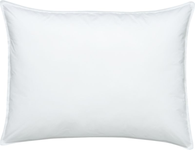 Down-like yet down-free, our plump, hypoallergenic down alternative pillows are encased in 230-thread-count cambric cotton and filled with Italian-crafted synthetic microfiber clusters, developed to closely resemble the feel of the real thing. <a href=/feather-down-bed-pillows/f11504>Feather-Down Bed Pillows</a> and <a href=/premium-down-bed-pillows/f58248>Premium Down Bed Pillows</a> also available.<br /><br /><NEWTAG/><ul><li>100% cambric cotton cover</li><li>Microfiber cluster fill</li><li>Sized to fit our pillowcases</li><li>Machine wash in warm water, like colors, no bleach</li><li>Tumble dry, medium heat until thoroughly dry</li><li>For best results, professional laundering is recommended</li><li>Do not dry clean</li><li>Made in multiple countries</li></ul>
