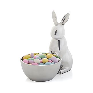 Aluminum Bunny Serving Bowl