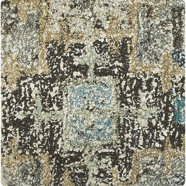 "Alvarez Mineral Blue Wool-Blend 12""x18"" Rug Swatch"