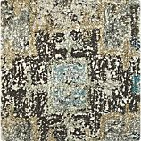 "Alvarez Mineral Blue Wool-Blend 12"" sq. Rug Swatch"