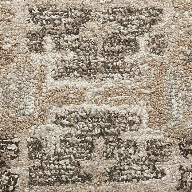 "Alvarez Natural Wool-Blend 12""x18"" Rug Swatch"