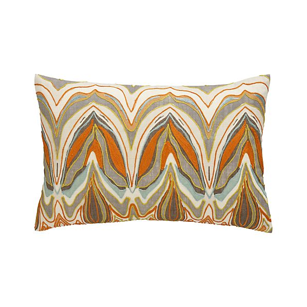 "Amaris 18""x12"" Pillow with Feather-Down Insert"