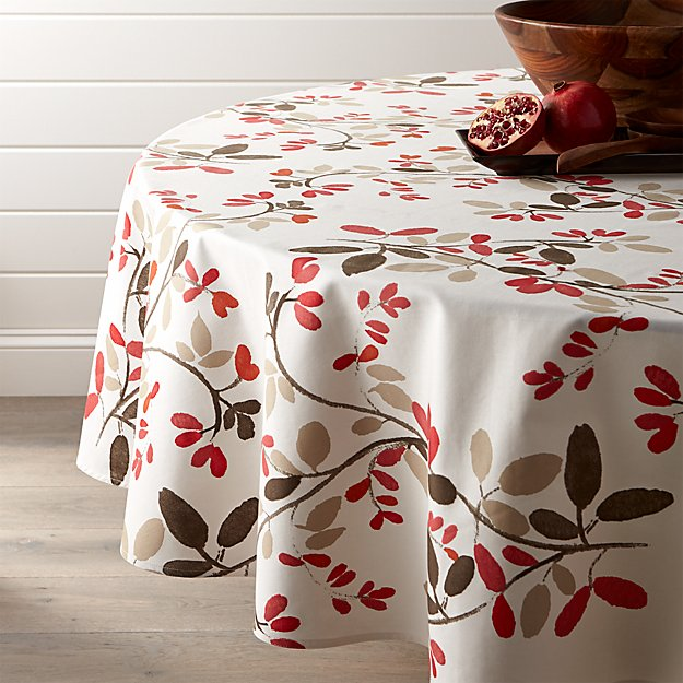 """Amelia 90"""" Floral Round Tablecloth"""