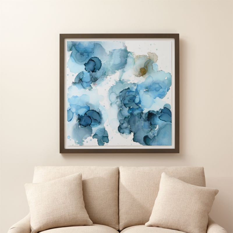 Amphora Blue And Gold Abstract Art Crate And Barrel