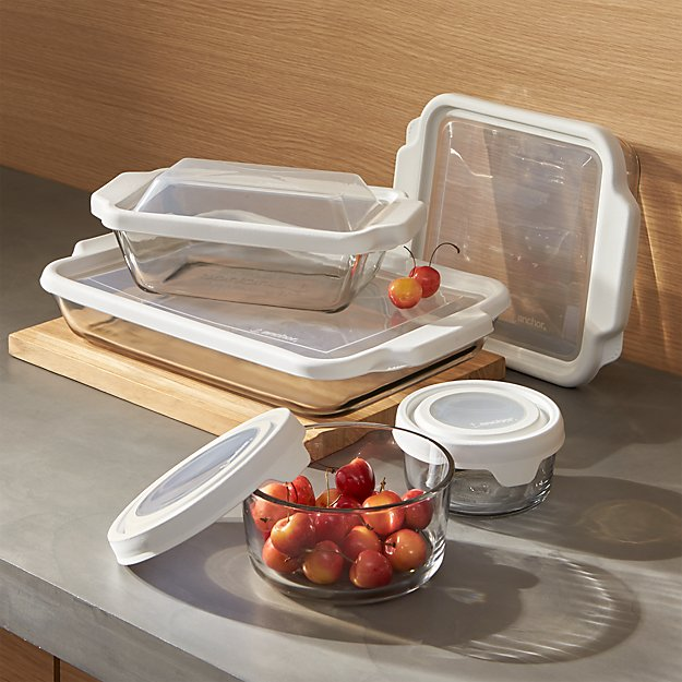 Anchor Hocking 174 Bake And Store 10 Piece Set Crate And