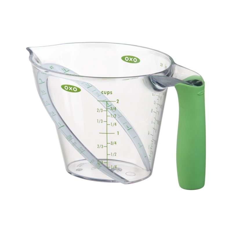 Great gadget for the baking and cooking enthusiast. An innovative design lets you read measurements from above, eliminating the need to crouch down to eye level. Includes metric measurements for added convenience.<br /><br /><NEWTAG/><ul><li>Polypropylene, tritan and TPR</li><li>Soft, firm-grip Santoprene® handle</li><li>Microwave and top-rack dishwasher-safe</li></ul>