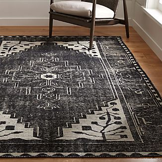 Anice Black Hand Knotted Oriental Rug