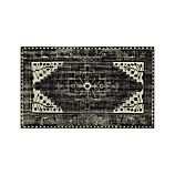 Anice Black Hand Knotted Oriental 5'x8' Rug