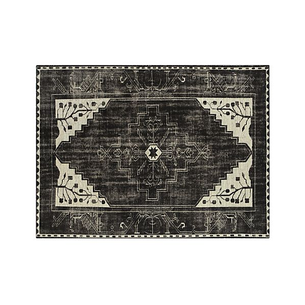 Anice Black Hand Knotted Oriental 8'x10' Rug