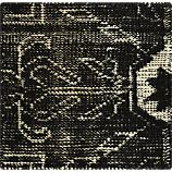 """Anice Black Hand Knotted Oriental 12"""" sq. Rug Swatch"""