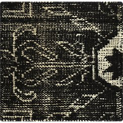 "Anice Black Hand Knotted Oriental 12"" sq. Rug Swatch"