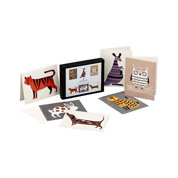 Set of 12 Animal Cards