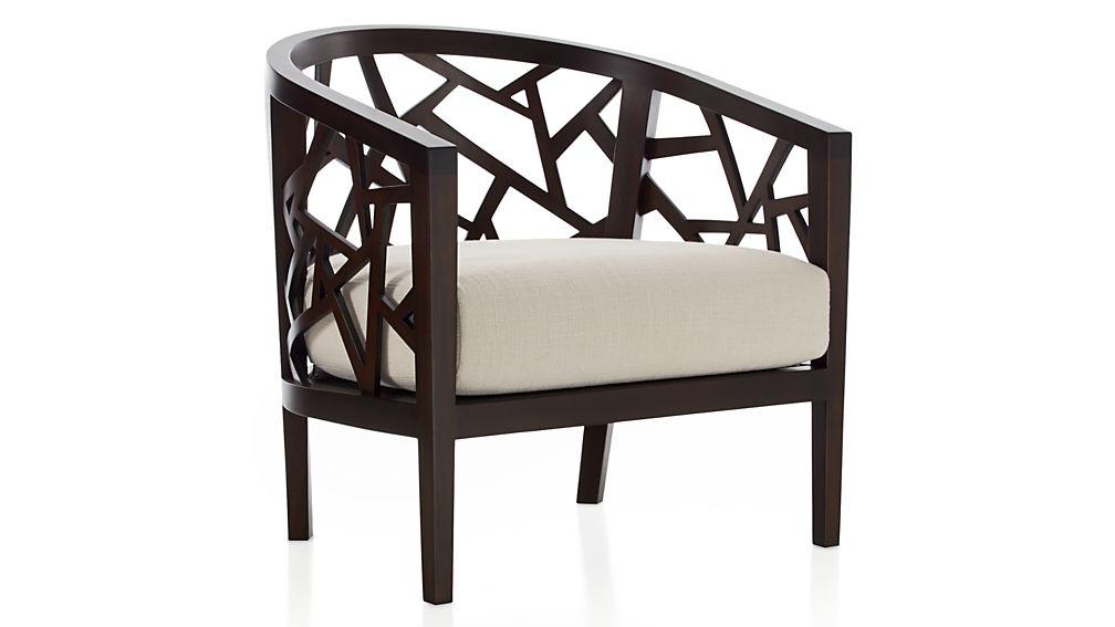 Ankara Truffle Frame Chair with Fabric  Cushion