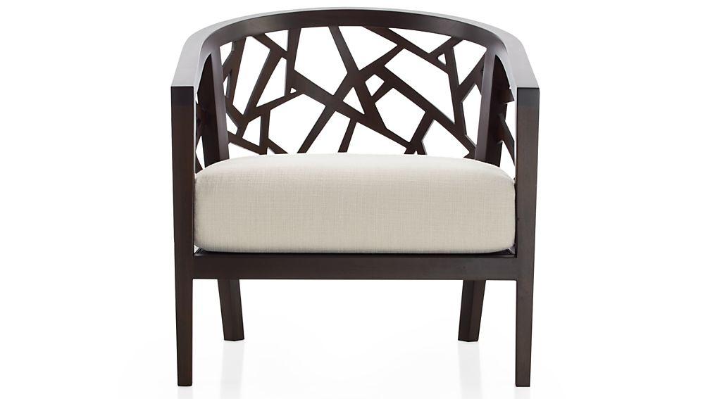 Ankara Truffle Frame Chair Withfabric Cushion Tumble