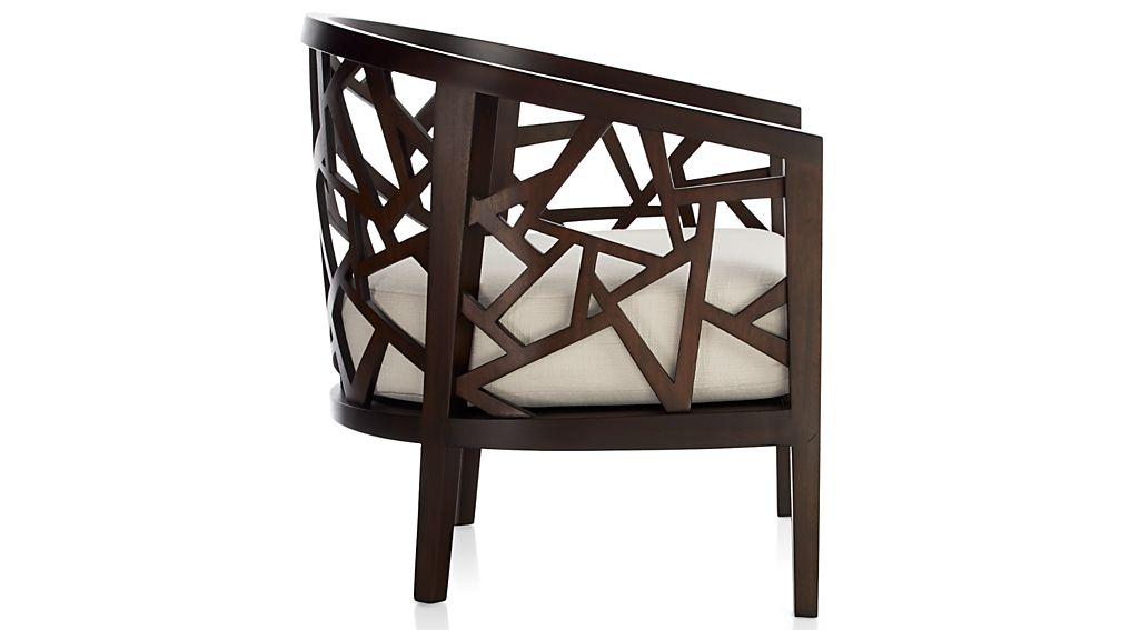 Ankara Truffle Frame Chair withFabric  Cushion