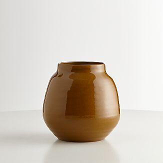 Ansley Medium Olive Green Ceramic Vase