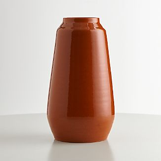 Ansley Pumpkin Orange Ceramic Tall Vase