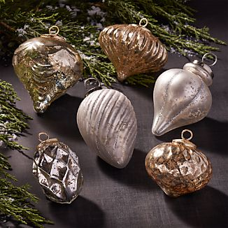 Antiqued Glass Ornaments