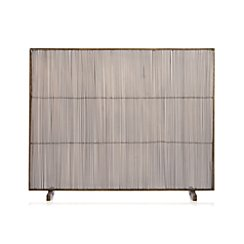 Antiqued Brass Fireplace Screen