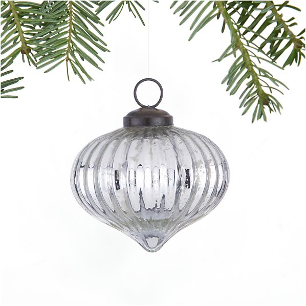 Antiqued Silver Onion Ornament
