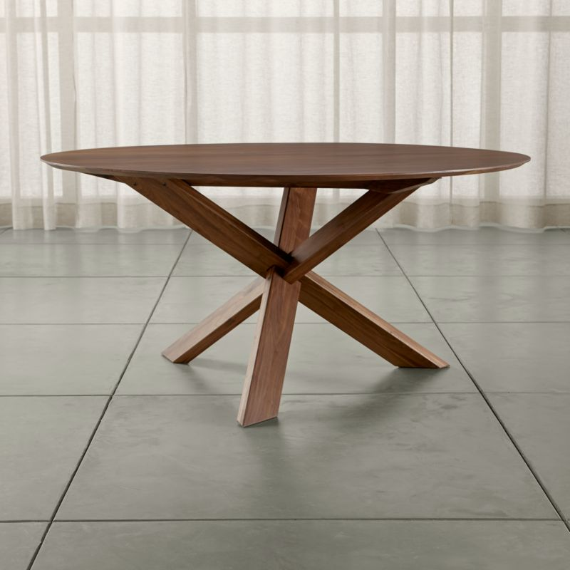 Apex 64 round dining table crate and barrel - Crate and barrel kitchen tables ...