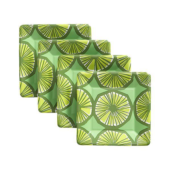 """Set of 8 Marimekko Appelsiini 8"""" Dessert-Salad Plates Set of Eight"""