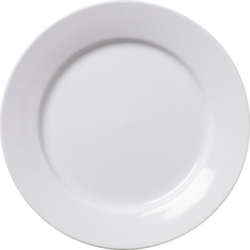 All-purpose white porcelain plate serves up tasty tidbits, sweet and savory. Stock up for the table or buffet.<br /><br /><NEWTAG/><ul><li>Porcelain</li><li>Dishwasher- and microwave-safe</li><li>Made in China</li></ul>
