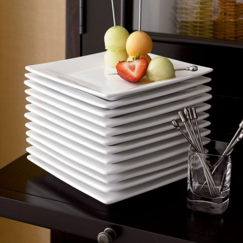 """6"""" Appetizer Plates Boxed Set of 12"""