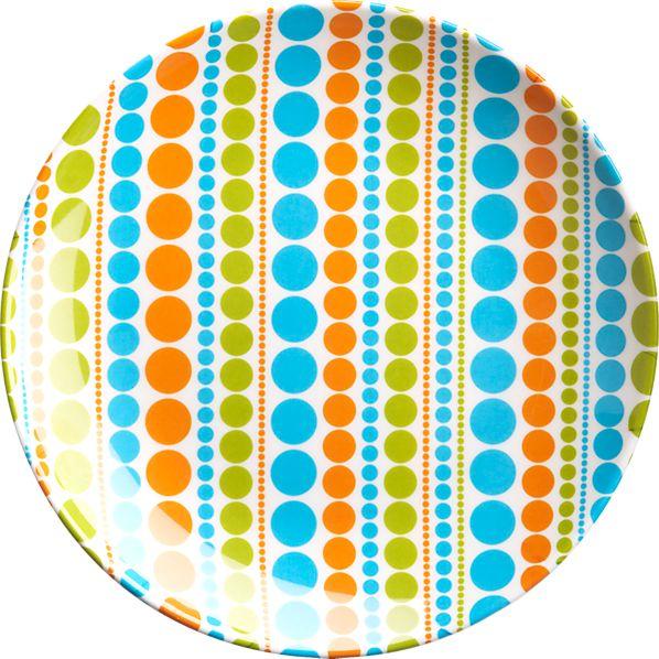 Multi Dot Appetizer Plate