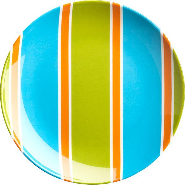 Stripe Appetizer Plate