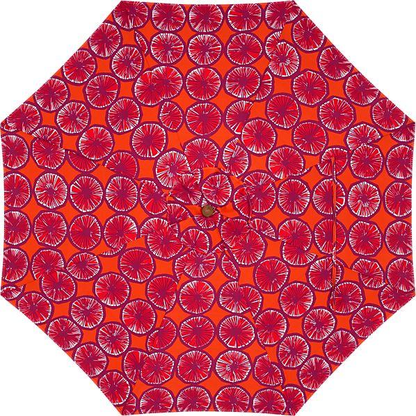 9' Round Marimekko Appelsiini Caliente Umbrella Cover